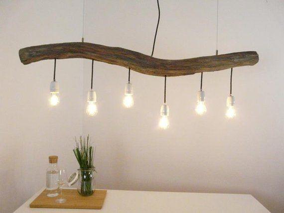 Esstischlampe Holzlampe Landhaus Lampe Deckenleuchte ...