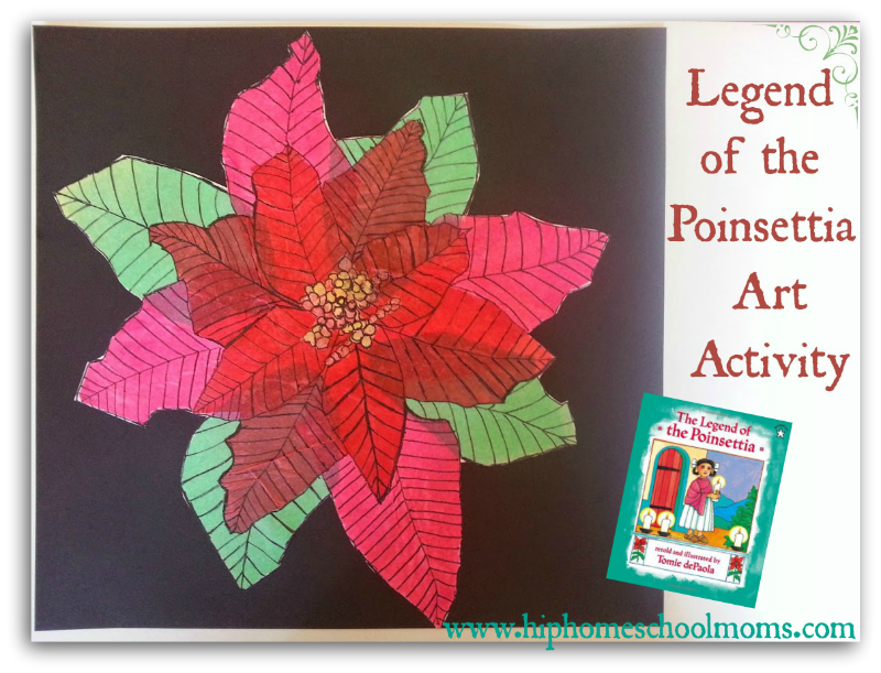 Legend Of The Poinsettia Art Activity Christmas Art Projects Legend Of The Poinsettia Collaborative Art Projects For Kids
