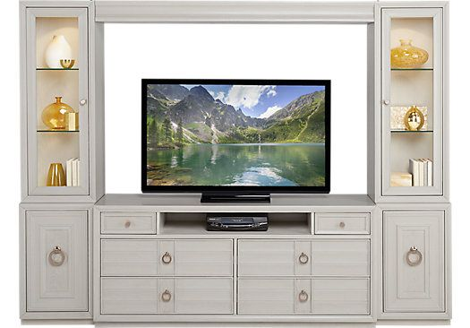 Magnificent Cindy Crawford Home Michigan Avenue Cream 4 Pc Wall Unit Largest Home Design Picture Inspirations Pitcheantrous