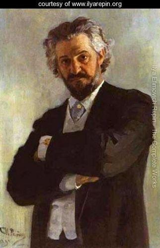 Portrait Of The Chello Player Alexander Verzhbilovich 1895 - Ilya Efimovich Efimovich Repin - www.ilyarepin.org
