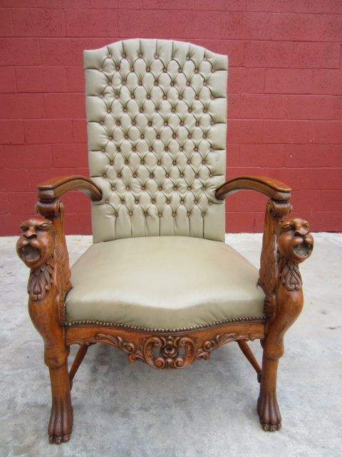 Antique Chair Carved Antique Arm Chair Griffin Antique Furniture - Antique Chair Carved Antique Arm Chair Griffin Antique Furniture