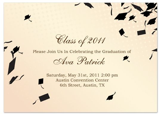 Download Sample Graduation Invitation Announcement Cream