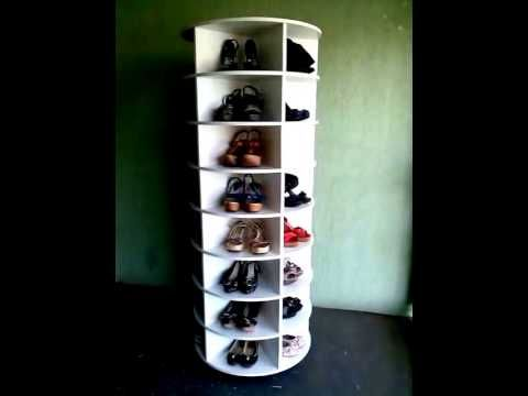Sapateira giratoria lazy susan shoe rack youtube for Zapateras giratorias para closet
