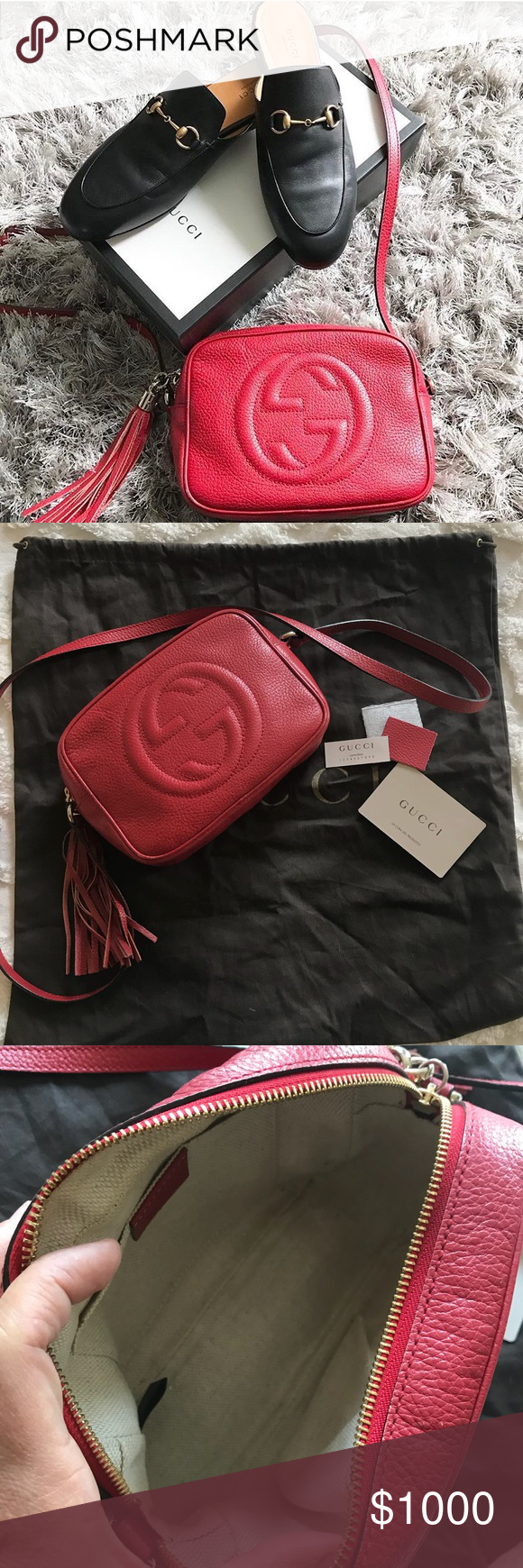 7beb628fee6e Gucci Soho Disco Bag 100% authentic. I had the bag for about 3 yrs.  Excellent condition. No trades. Gucci Bags Crossbody Bags