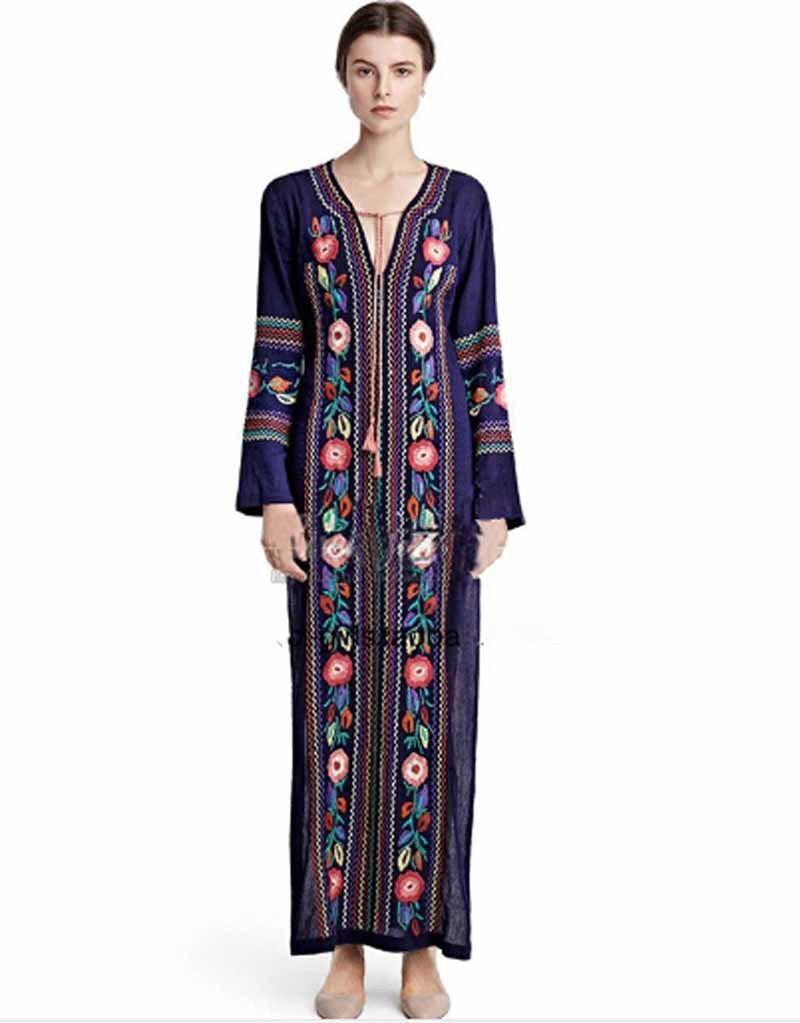 7934c920ce3ad Encontrar Más Vestidos Información acerca de Mujeres Vintage tunicas ...