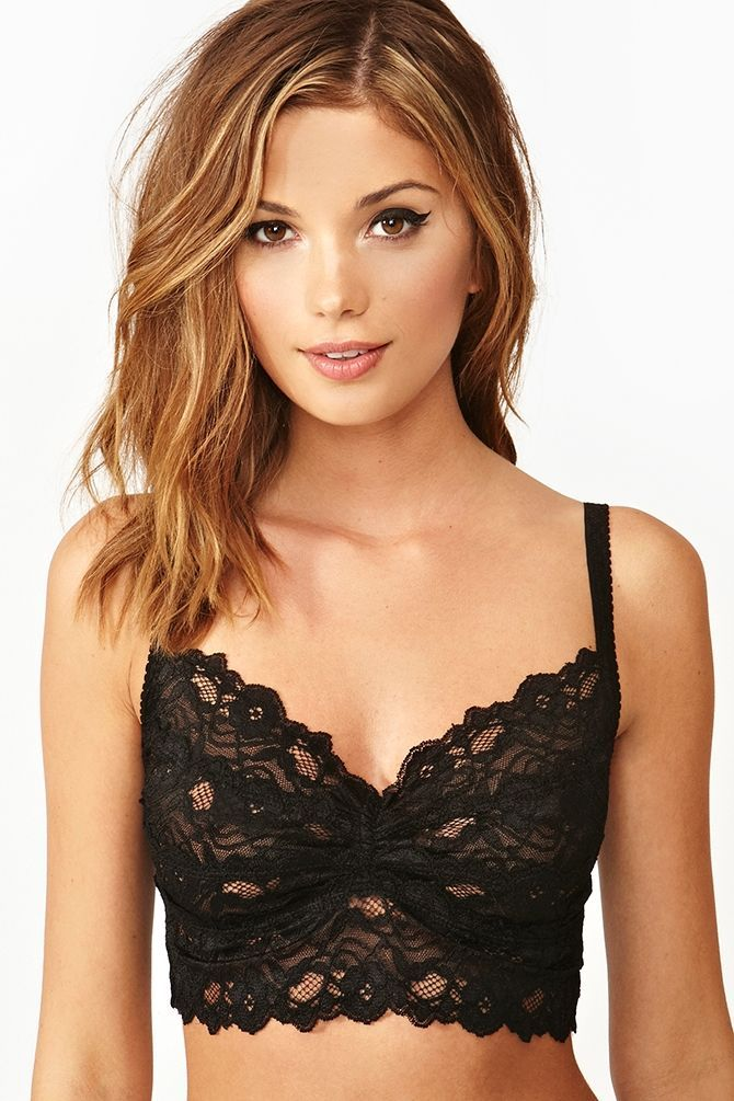 cc55bff2547a39 Dahlia Lace Bralette - wear underneath sheer tops