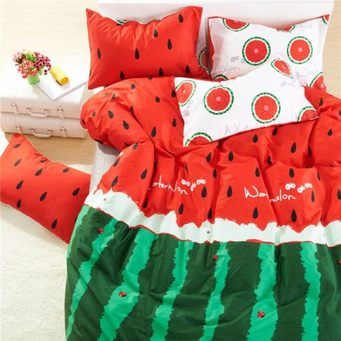 Cotton Watermelon Bedding Set For H.. More