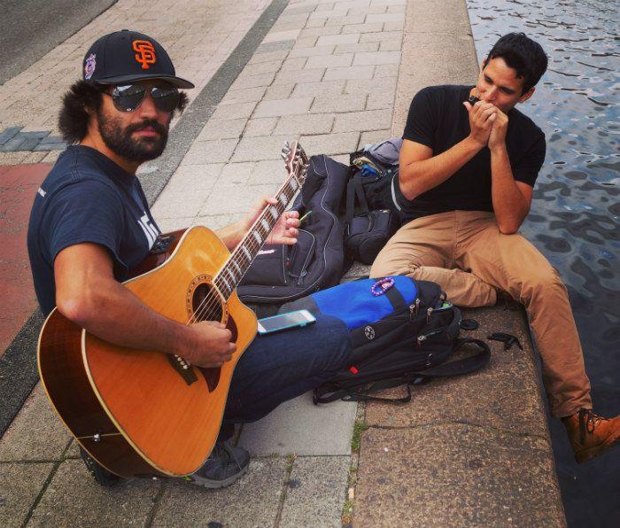 guitar jam harmonica