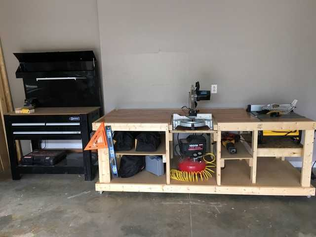 the depot for workbench top garage workbenches storage n organization b with accessories wood us home solid husky
