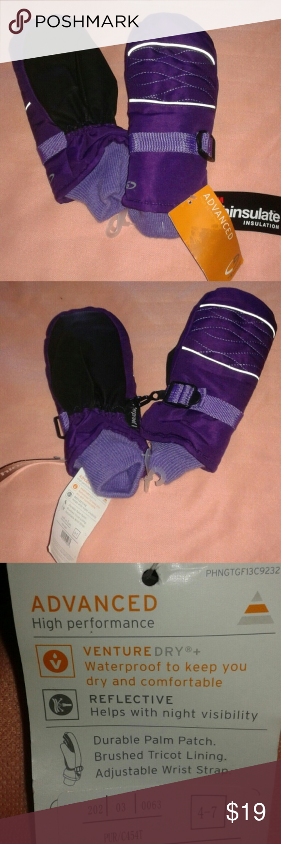 Champion Purple Kids Gloves Sz 4-7 New and ready for you to wear it. Info on the pics. Final price. Champion Accessories