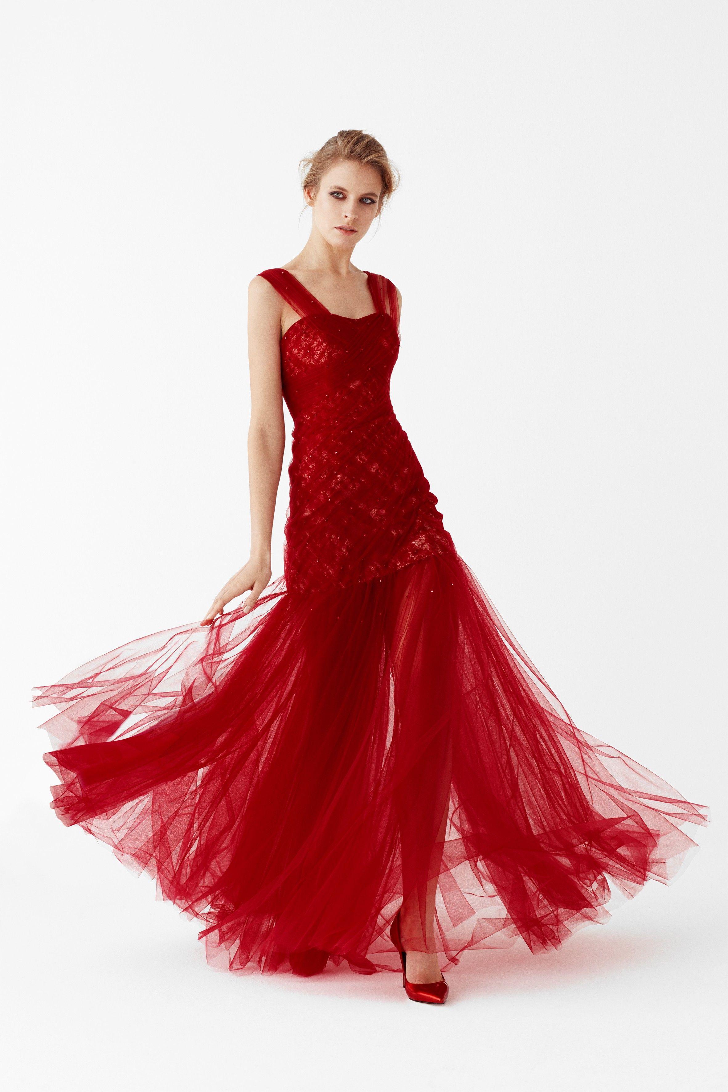 Kirmizi Nisan Elbisesi Modelleri The Dress Parti Elbisesi Moda Stilleri
