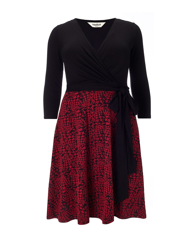 a19c8e3a407 Studio 8 plus size katy red and black dress