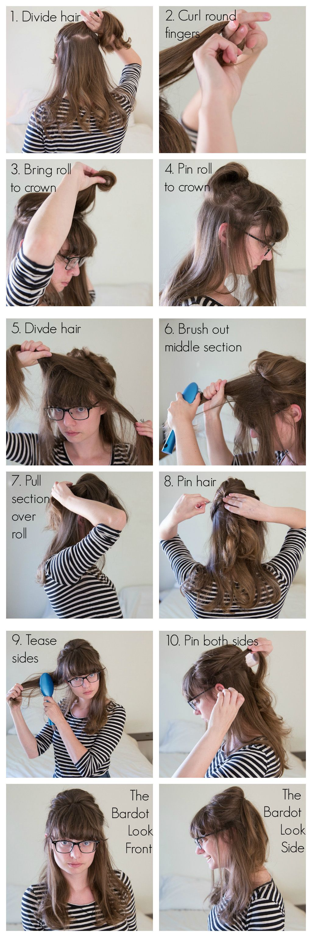 Howto brigette bardotus choucroute so awesome hair pinterest