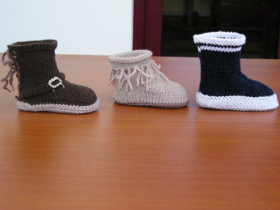 Tuto chausson   Bottes bébé 3-6 mois par Magshoes sur Etsy   ÇOCUK ... 9b03188cf63b