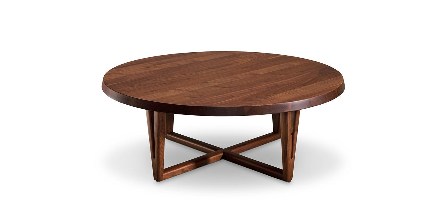 Aspen Coffee Table Round American Walnut 1190 Coffee Table