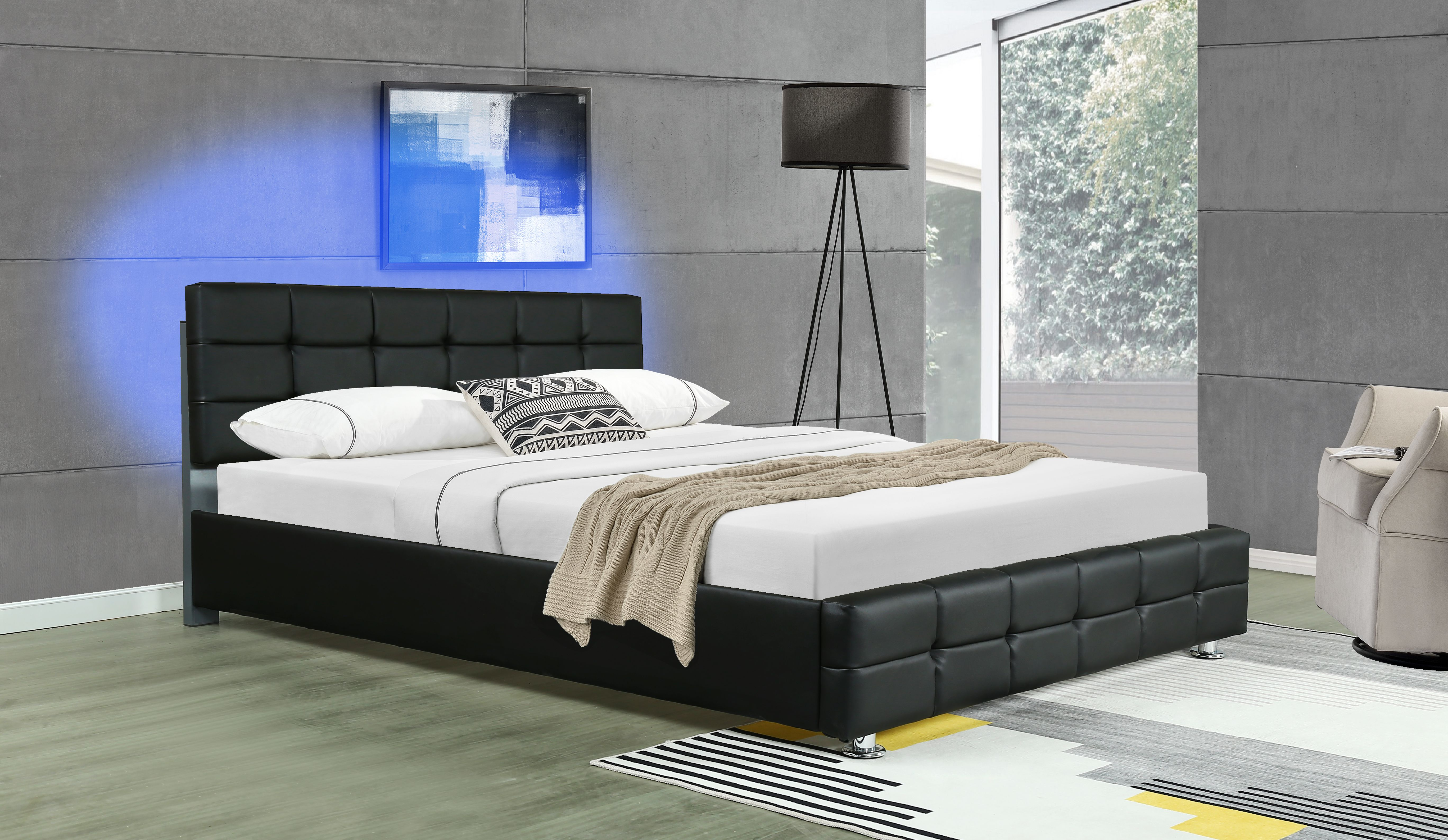 Auti Tufted Upholstered Low Profile Platform Bed in 2020