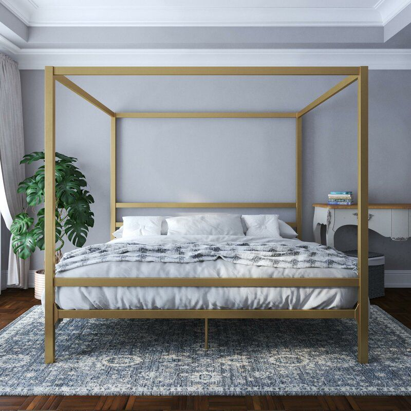 Dubay Canopy Bed in 2020 Metal canopy bed, Modern canopy