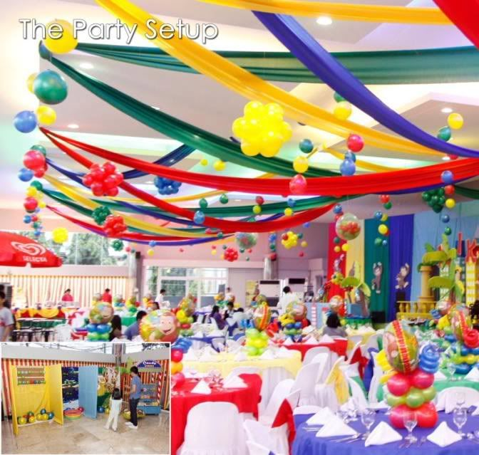 balloon decoration ideas for kids parties at kinder etc httpi598photobucket - Decorations