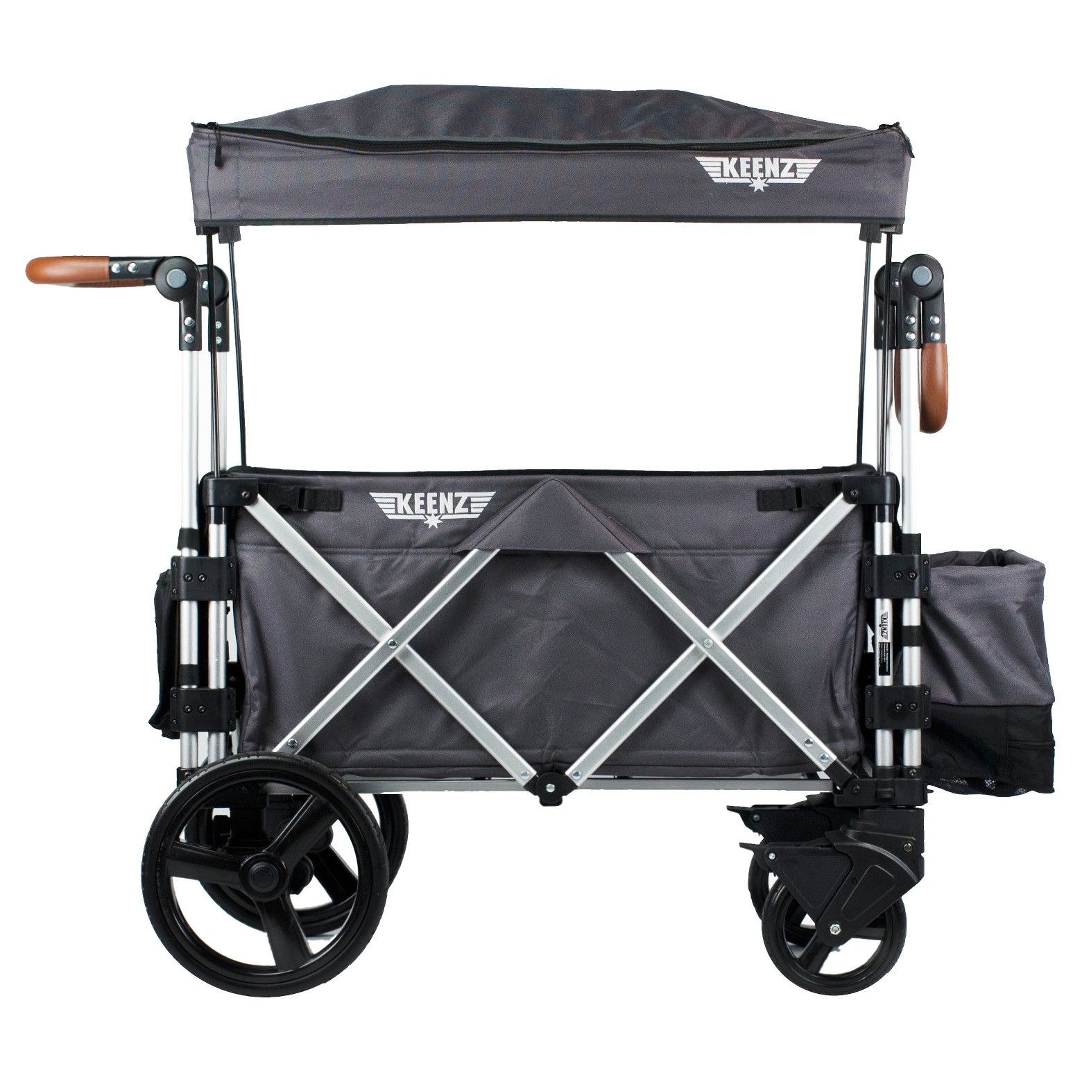 Keenz 7S Double Stroller Wagon Gray Double strollers