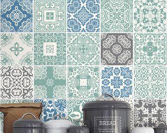 Kitchen Backsplash Hydraulic Tile Stickers Por Homeartstickers