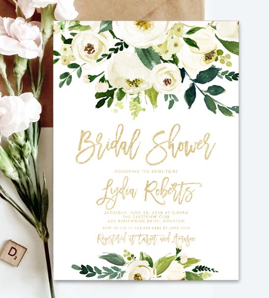 Instantly Personalize Editable Bridal Shower Invitation Template