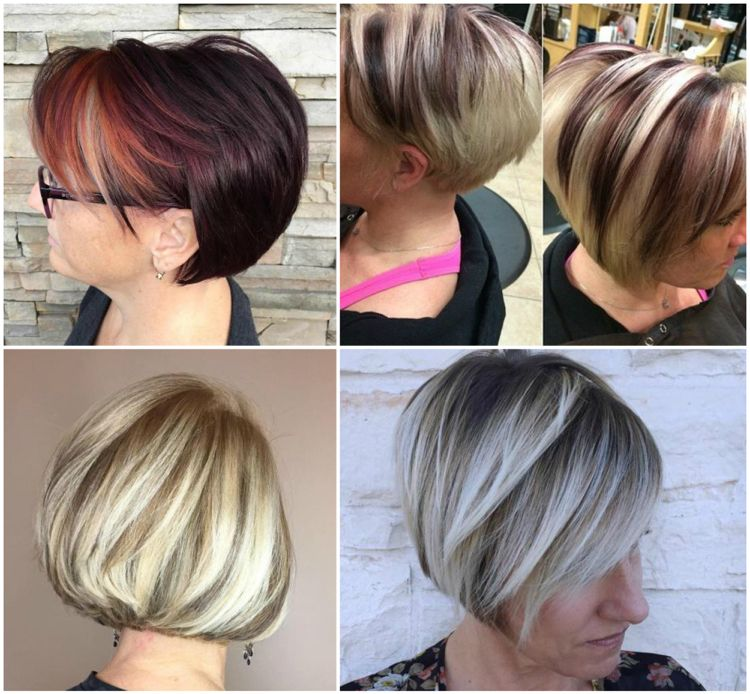 Kurze Frisuren Mit Highlights Damen Ab 50 Modische Frisuren Haarfarben Kurzhaarfrisuren