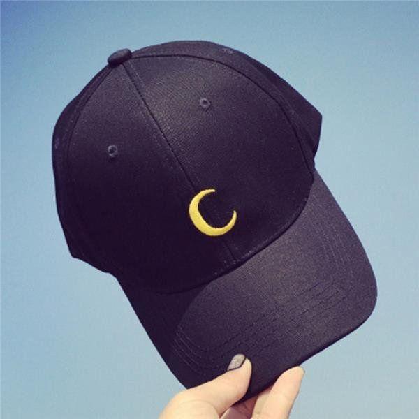 05fdcfa7264 Men Women Moon Hat Hip Hop Kpop Sport Curved Strapback Adjustable Baseball  Cap