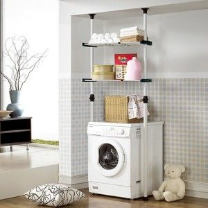 Adjustable Double Shelf Prince Hanger Small Laundry Rooms Shelf Clothing Rack Tiny Laundry Rooms