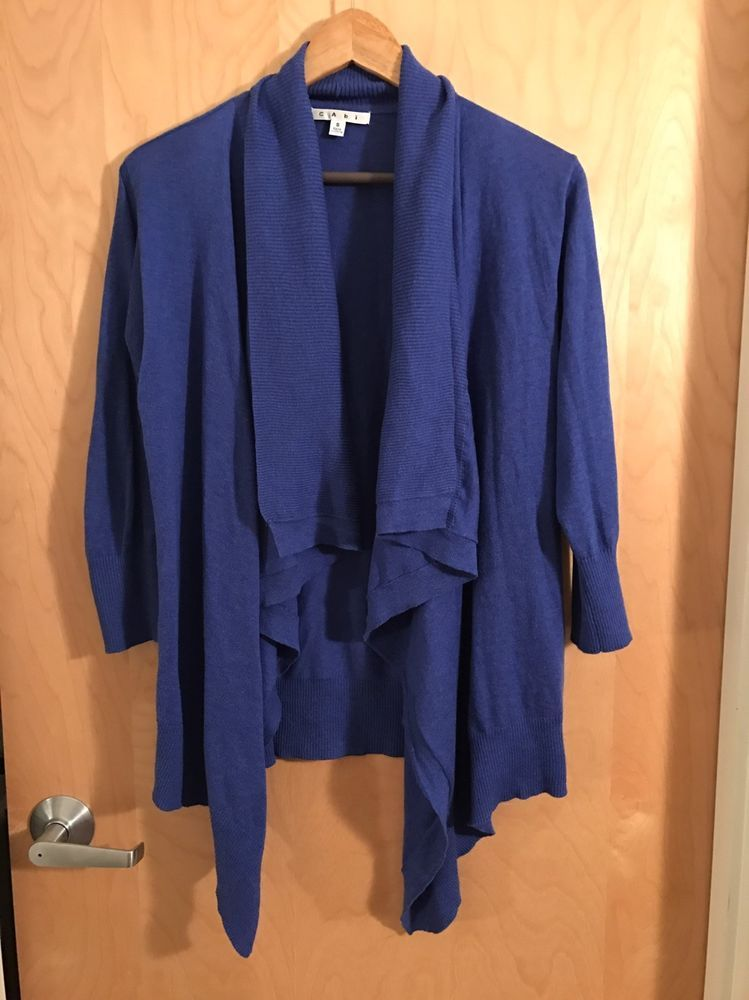 New Cabi Waterfall Cardigan Small Blue 100% Cotton | eBay | For ...
