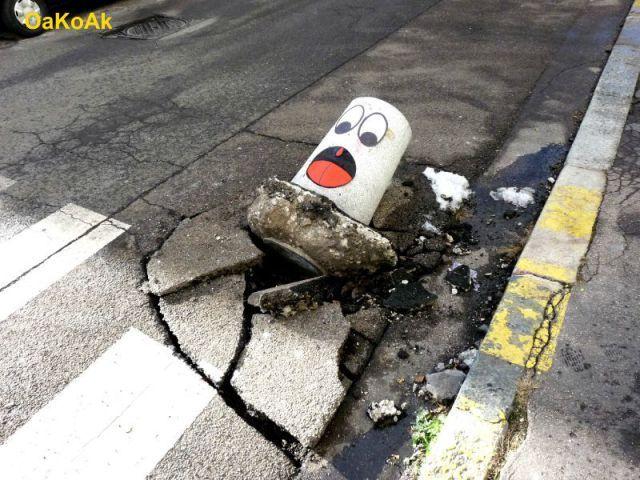 Fotos mostram a divertida arte urbana de OaKoAk | iG Colunistas – O Buteco da Net