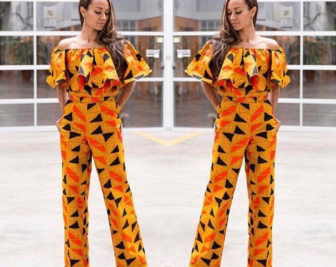 African Print/ Ankara Jumpsuit/ African Clothing/ Ankara Pri... African Fashion trends #ankarastil African Print/ Ankara Jumpsuit/ African Clothing/ Ankara Pri... African Fashion trends #ankarastil