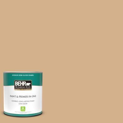 Behr Premium Plus 1 Qt S290 4 Summerwood Semi Gloss Enamel Low Odor Interior Paint And Primer In One 340004 The Home Depot In 2020 Behr Premium Plus Interior Paint Premium Plus
