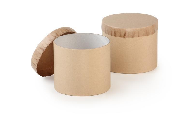Biodegradable Paper Jar Natural Kraft   Simple Package