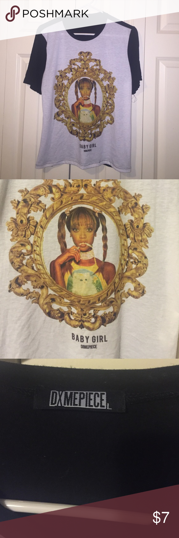 DIMEPIECE Tyra Banks Baby Girl Tee DIMEPEICE Tyra Banks Baby Girl Tee Tops Tees - Short Sleeve