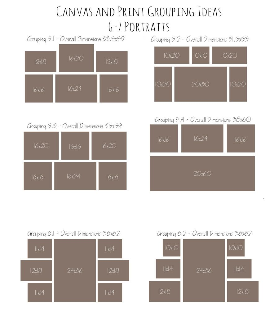 Canvas And Print Grouping Ideas With
