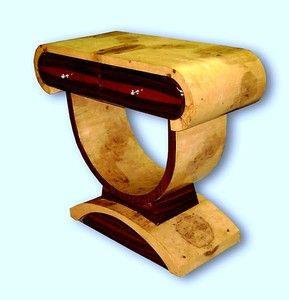 Elegant Art Deco Console Olive and Rosewood | eBay