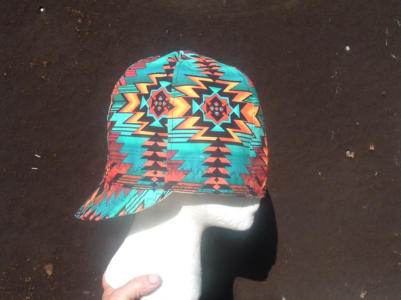 Wild Zigzag Pattern Welding Cap Made Here In New Mexico
