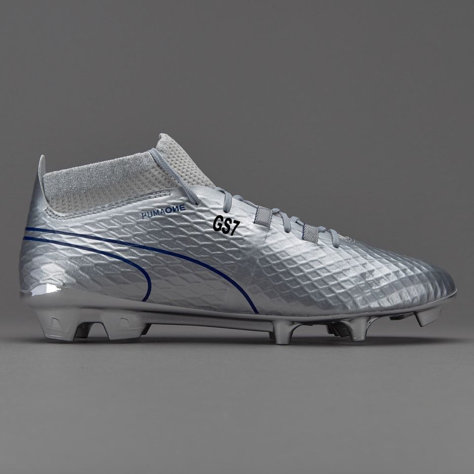 Puma One Chrome FG - Silver Blue Depths Deportes 35e86e1ce6583