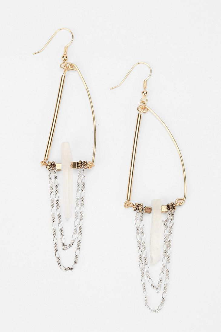 Crowley Crystal Earring  #UrbanOutfitters