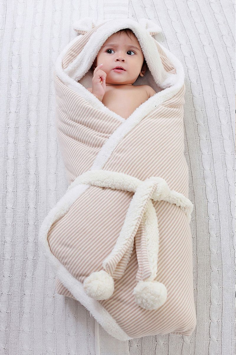 Detachable Newborn Baby Blanket Swaddle 90 90 Mohocako Winter Newborn Cotton Baby Clothes Baby Girl Blankets