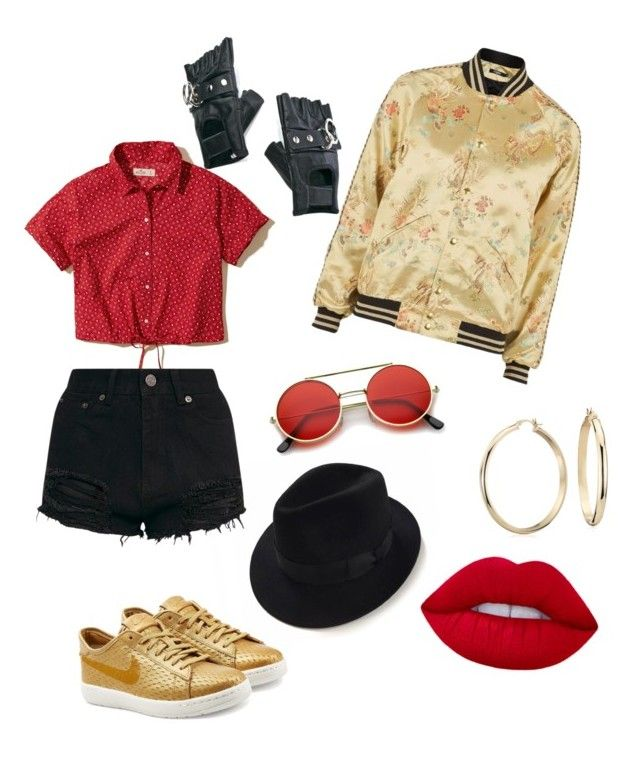 """mfa!"" by estherbc on Polyvore featuring Hollister Co., Jaded, NIKE, Blue Nile and Funk Plus"