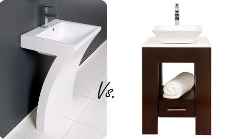 Pedestal Sink Vs Vanity: 3 Things To Consider | Pedestal Sink, Sinks And  Vanities