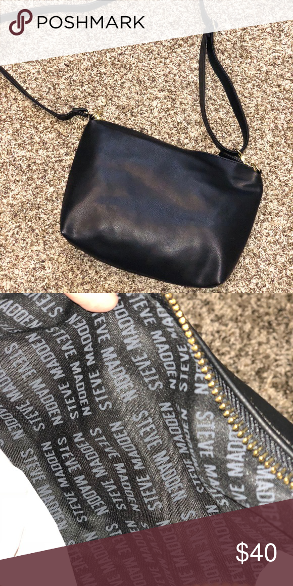78f894a26ab Black Steve Madden Purse Bag 🖤🖤🖤🖤🖤🖤🖤🖤🖤🖤🖤🖤 Every girl needs  black purse! This Brand NEW Steve Madden Bag is great for any occasion and  for any ...