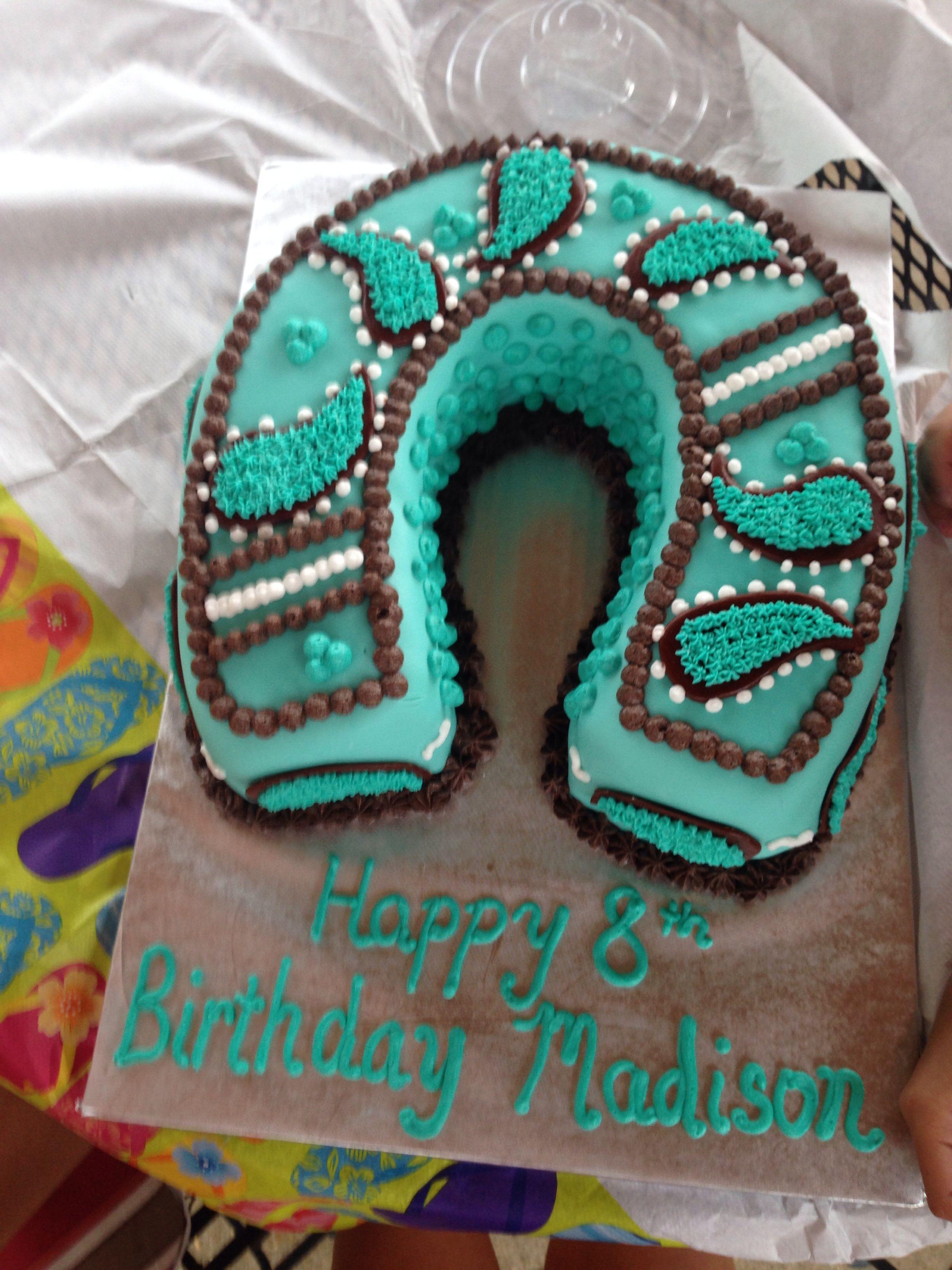 Horseshoe Cake With Images Unicorn Birthday Cake Western