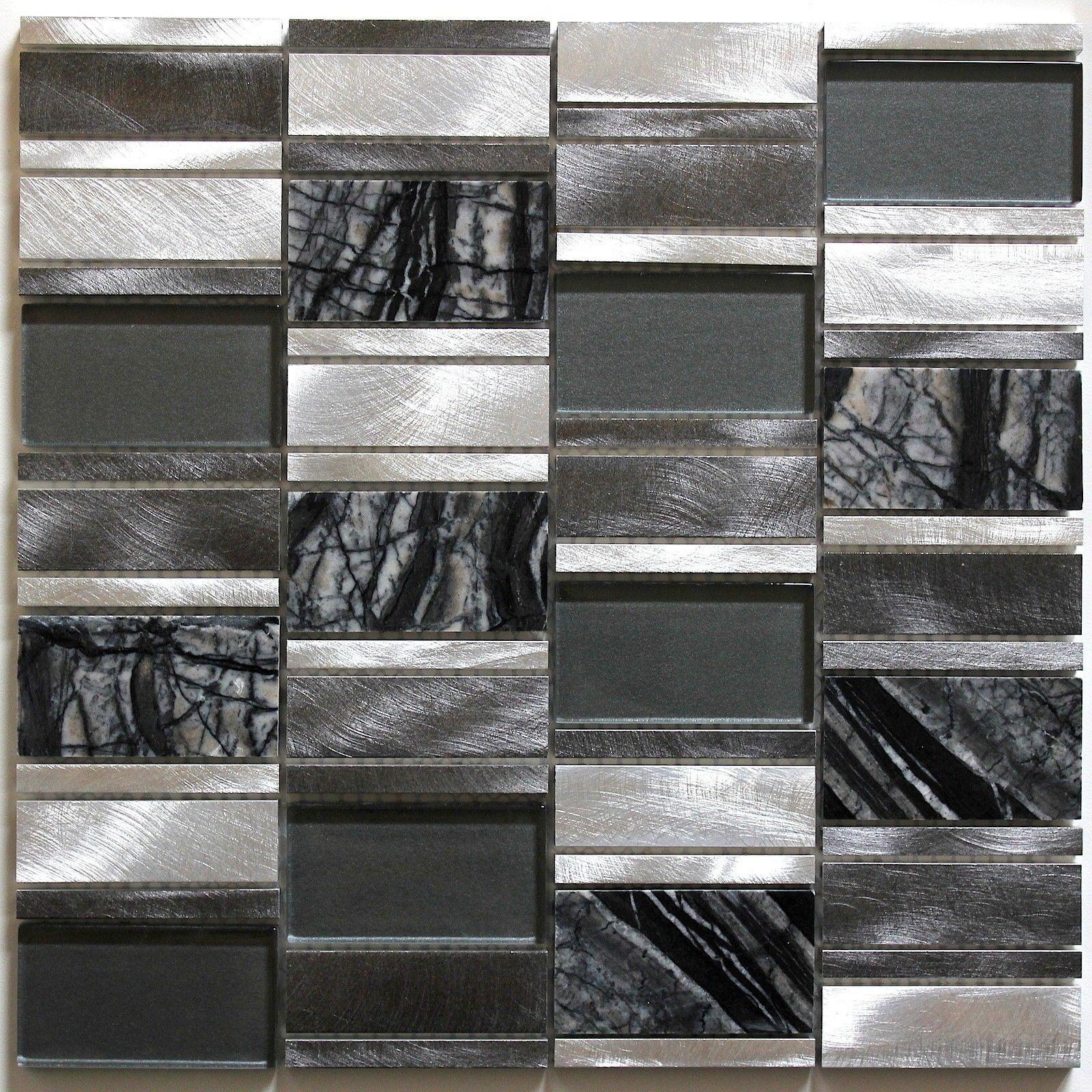 Dalle Mosaique Aluminium Et Verre Carrelage Cuisine Credence Ceti