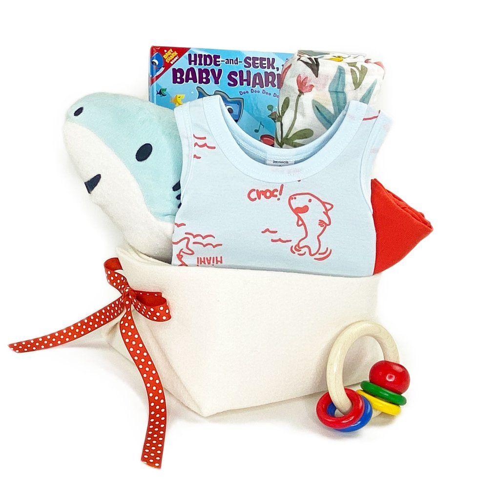 Baby shark gift basket in 2020 shark gifts luxury baby