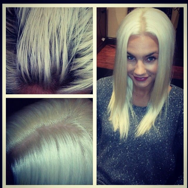 Bleach Touch Up By Giana Platinum White Hair Color Organic Salon Elmhurst Chicago Mfpsalon Touch Up Salons Color