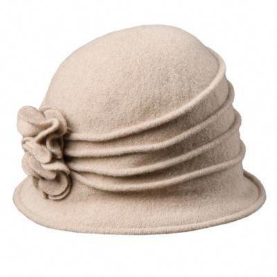 8e4a277b59a7a Charlotte scala lw497 taupe knit wool cloche hat w side flower – Artofit