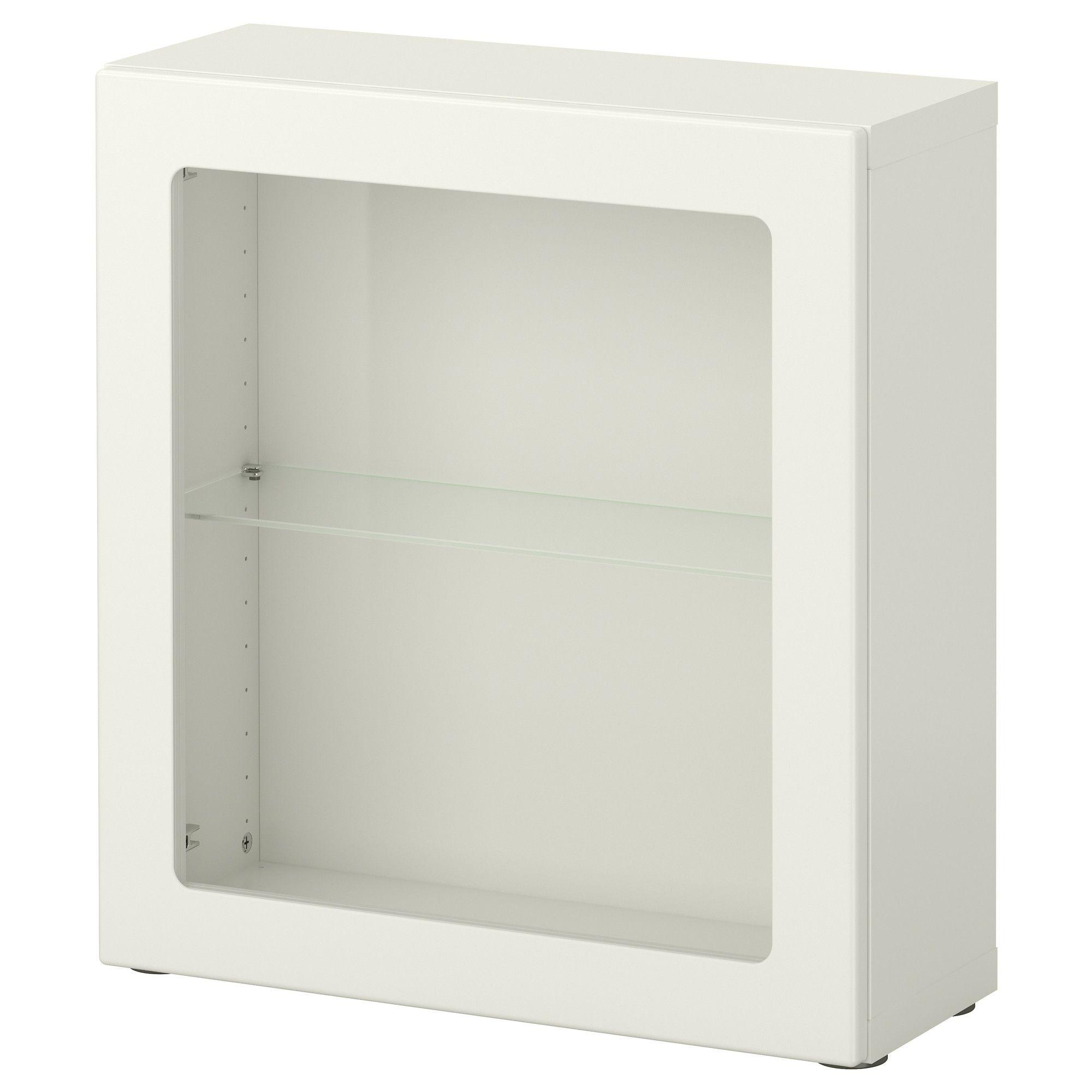 BESTÅ Estante con puerta de vidiro - blanco/Glassvik vidrio ...