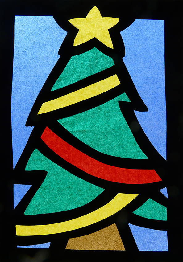 Lavoretti di natale 2014 vetrofanie di carta velina lavoretti bambini per natale merry - Vetrofanie per finestre ...